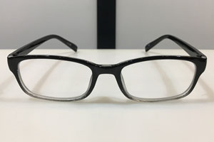 RONIN READING GLASSES TYPE-2 BLACK CLEAR