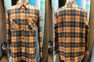 SC27967 TWILL CHECK WORK SHIRTS (イエロー)