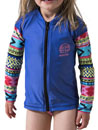 RIP CURL U05-870 MINI GIRL TROPIX L/S ZIP THRU